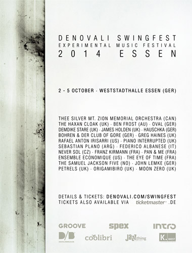 Denovali Swingfest Homepage