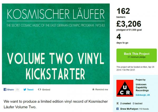 Kosmischer Läufer Vol 2 auf Kickstarter