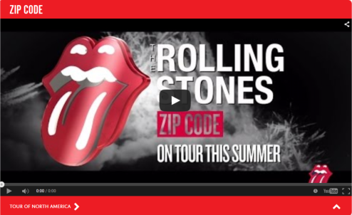 Rollings Stones - ZIP TOUR PROMO