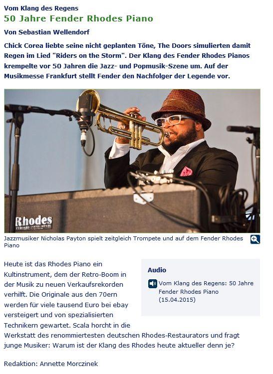 Fender Rhodes Beitrag - 15.4.2015 - WDR 5 - Corso