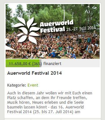 Auerworld auf StartNext