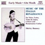 "Shirley Rumsey ""Music Of The Italien Renaissance"" NAXOS cover"