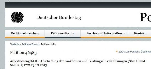 Petition 46483 - Abschaffung der Hartz IV Sanktionen