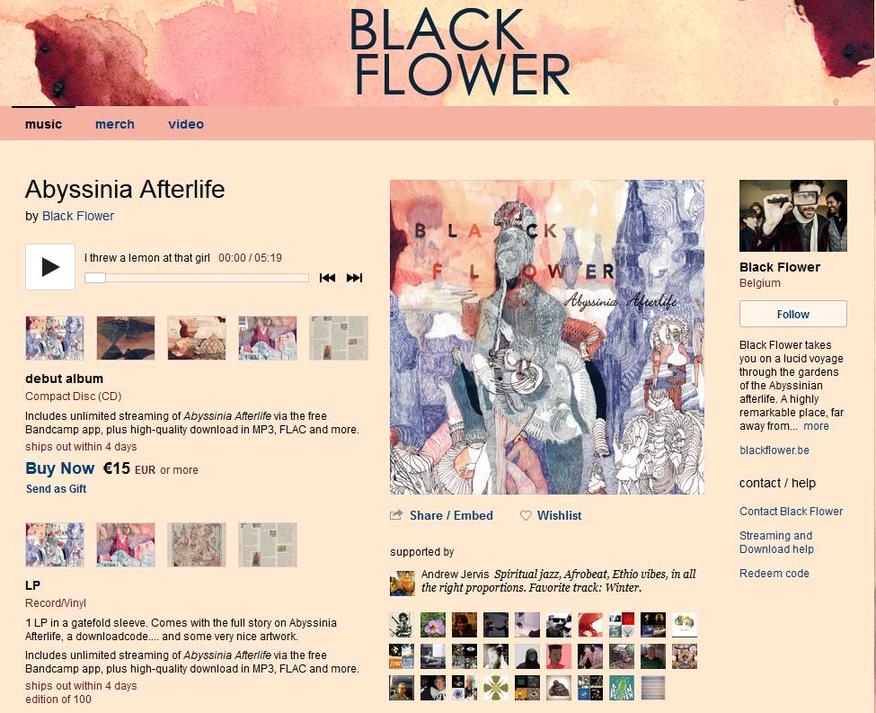 Black Flower - Abyssinia Afterlife - BandCamp
