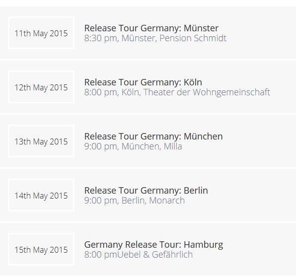Marius Ziska - Tour May 2015
